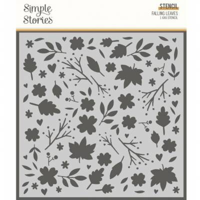 Stencil - Simple Stories - Falling Leaves