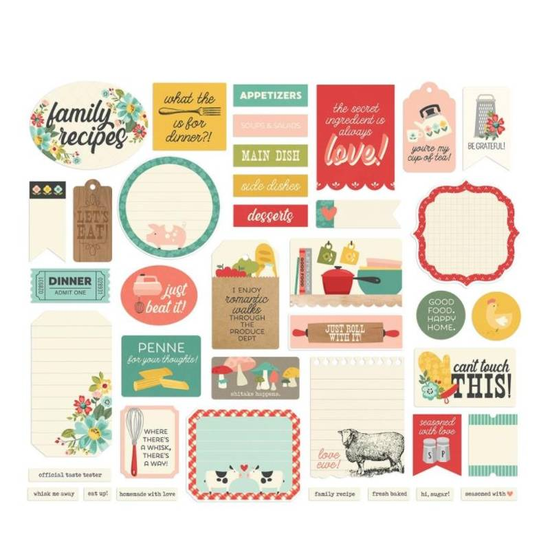 Die Cuts - Simple Stories - Recettes Journal