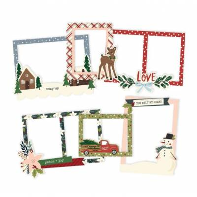 Chipboard Cadres - Simple Stories - Winter Cottage