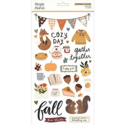Chipboards - Simple Stories - Cozy Days