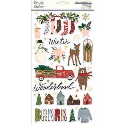 Chipboards - Simple Stories - Winter Cottage