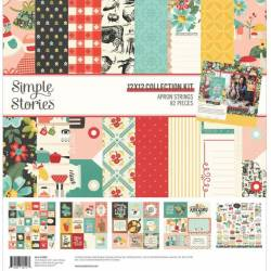 Pack 30x30 - Simple Stories - Apron Strings - Recettee