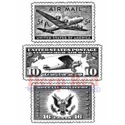 Tampon - Deep Red - Air Mail Postage