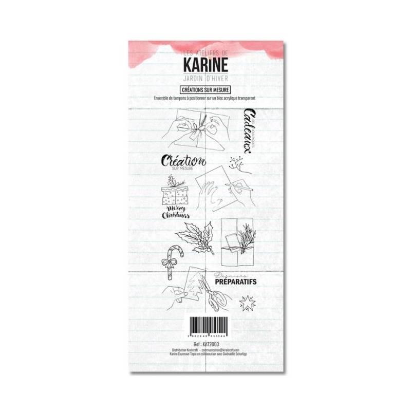 Tampons clear - Collection Jardin d'Hiver - Créations sur mesure