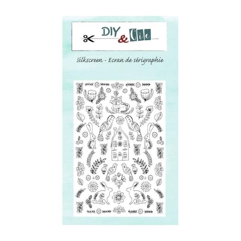 Pochoir Silkscreen - DIY & Cie -Screen & Folk - Jardin d'Hiver