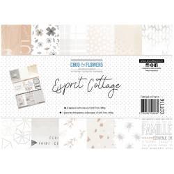Papier A4 - Chou & Flowers - Esprit Cottage