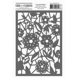 Pochoir - Chou & Flowers - Esprit Cottage - Dentelle