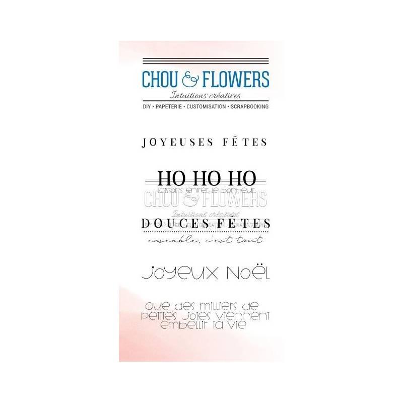 Tampons Clear - Chou & Flowers - Ho Ho Ho