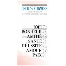 Tampons Clear - Chou & Flowers - Paix