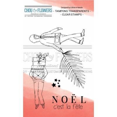Tampons Clear - Chou & Flowers - C'est Noël