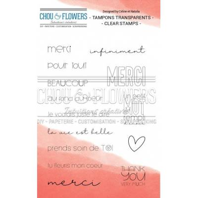 Tampons Clear - Chou & Flowers - Thank you