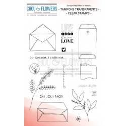 Tampons Clear - Chou & Flowers - Plaisir d'offrir