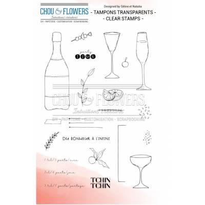 Tampons Clear - Chou & Flowers - Tchin Tchin
