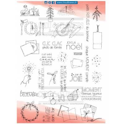 Tampons Clear A4 - Chou & Flowers - 25 jours à la maison