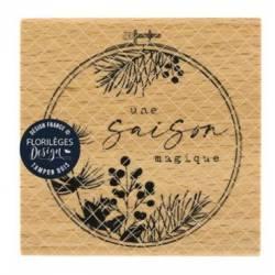 Tampon bois - Florilèges - Une saison magique