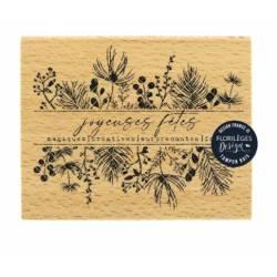 Tampon bois - Florilèges - Fêtes magiques