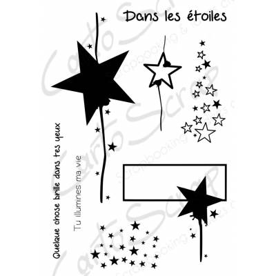 Tampons CartoScrap - Dans les étoiles