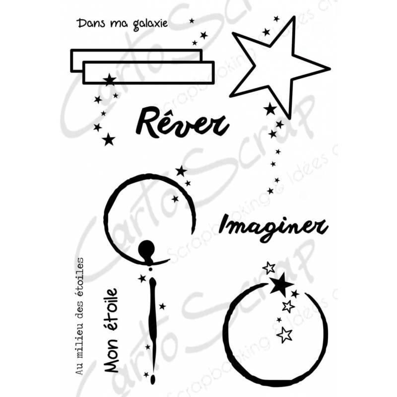 Tampons CartoScrap - Dans les étoiles en rond