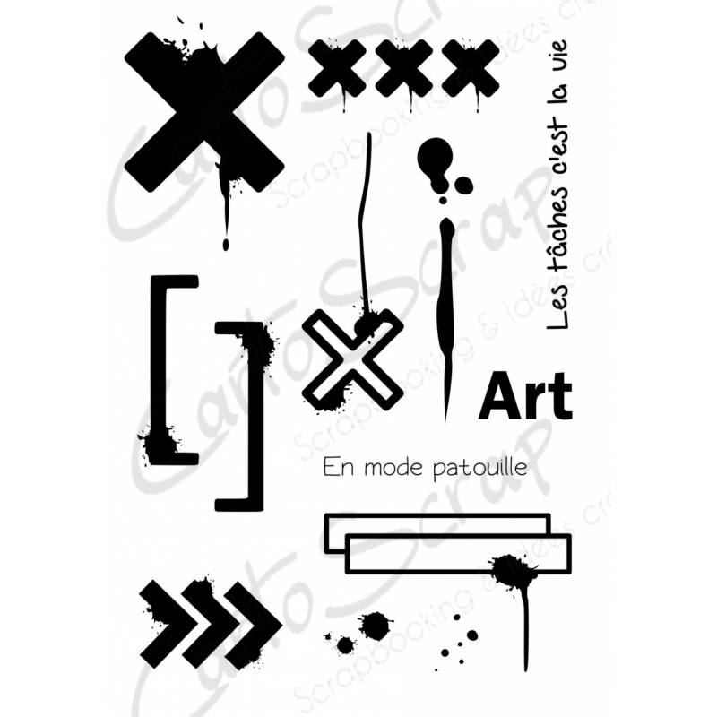 Tampons CartoScrap - Freestyle en croix