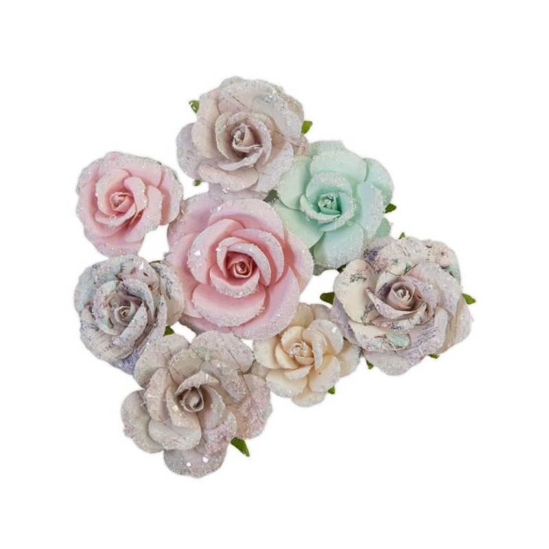 Prima Flowers - Fleurs Mulberry - Sugar Cookie Santa Baby