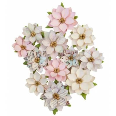 Prima Flowers - Fleurs Mulberry - Sugar Cookie Glittery Snow
