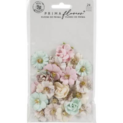 Prima Flowers - Fleurs Mulberry - Sugar Cookie Pink Christmas