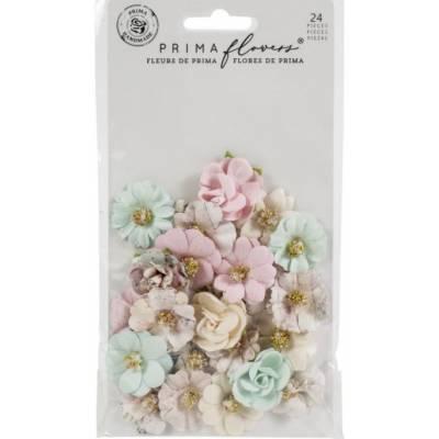 Prima Flowers - Fleurs Mulberry - Sugar Cookie Pink Christmas