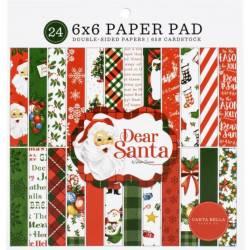 Pack papier - Carta Bella - 15x15cm - Dear Santa