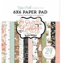 Pack Papier 15x15 - Echo Park - Notre mariage