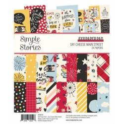 Pack de papiers 15x20cm - Simple Story - Say Cheese Main Street