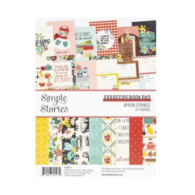 Pack de papiers 15x20cm - Simple Stories - Recettes