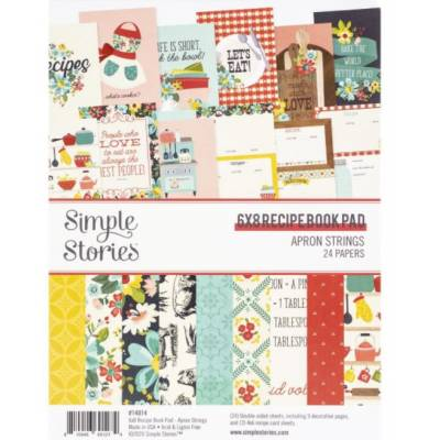 Pack de papiers 15x20cm - Simple Stories - Recettes