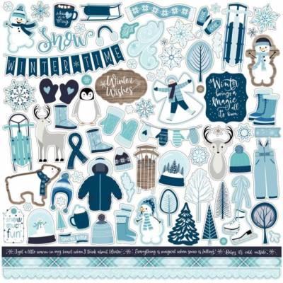 Stickers 30.5 x 30.5 - Echo Park - Winter magic
