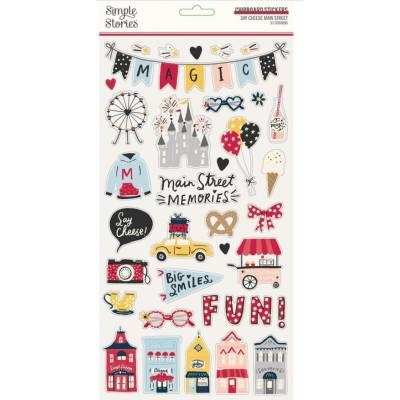 Chipboards - Simple Stories - Say Cheese Main Street