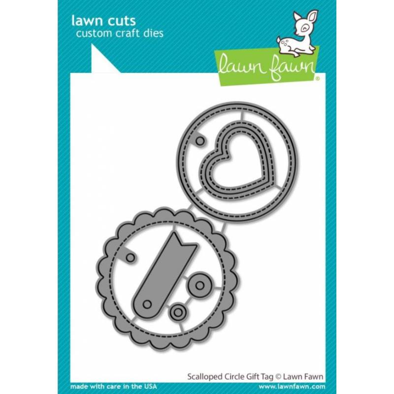 Dies Lawn Fawn - Scalloped Circke Gift Tag