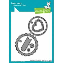 Dies Lawn Fawn - Scalloped Circke Gift Tag
