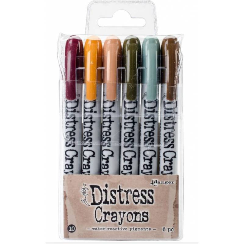 Distress Crayons - 6 feutres aquarelles assortis - Set 10