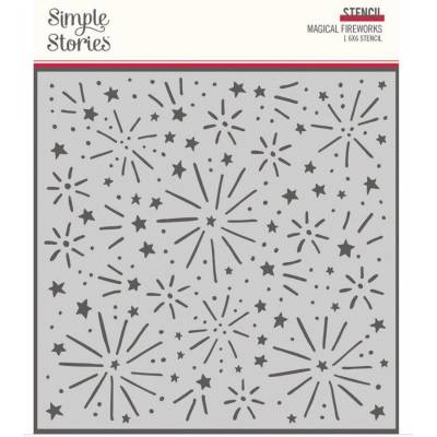 Stencil - Simple Stories - Feu d'artifice magique