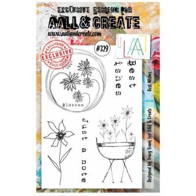 AALL & Create Stamp - 329 - fleurs enchantées