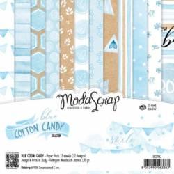 ModaScrap - Paper Pack 15.2x15.2 - Coton bleu