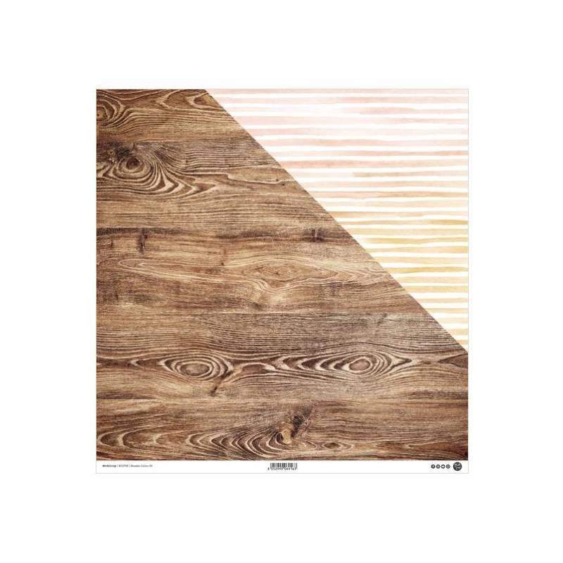 ModaScrap - Paper 30.5 cm x 30.5 cm - Bois avec nervures