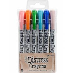 Distress Crayons - 6 feutres aquarelles assortis - Set 6