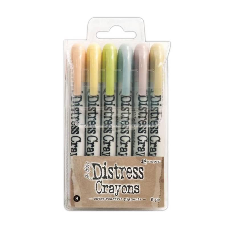 Distress Crayons - 6 feutres aquarelles assortis - Set 8