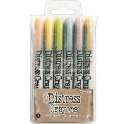 Distress Crayons - 6 feutres aquarelles assortis - Set 8