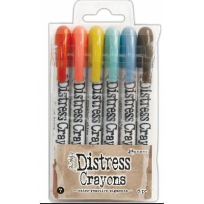 Distress Crayons - 6 feutres aquarelles assortis - Set 7
