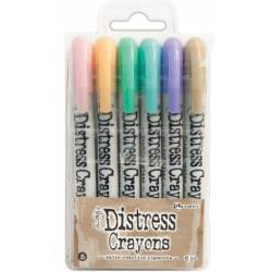 Distress Crayons - 6 feutres aquarelles assortis - Set 5