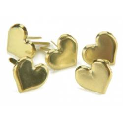 Mini brads métalliques (50p) - Coeur or