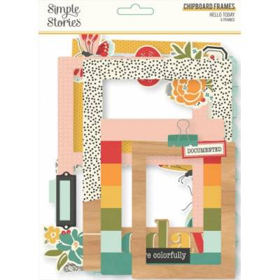 Chipboard Cadres - Simple Stories - Helllo Today