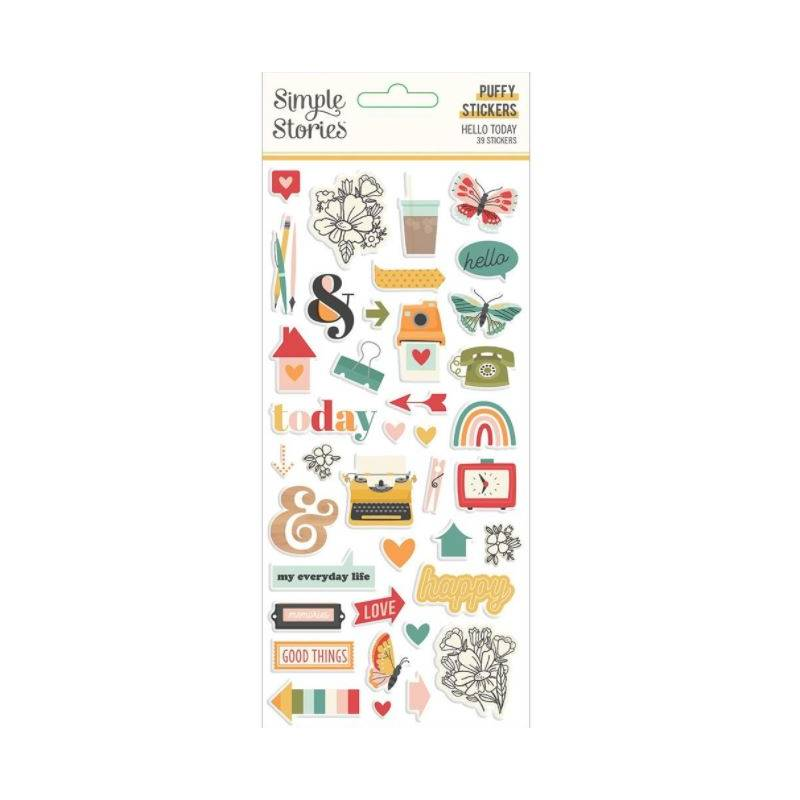 Stickers Relief- Simple Stories - Hello Today