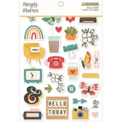Carnet de stickers Simple Stories - Hello Today